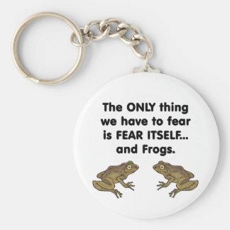 Ranas 3 del miedo sí mismo llavero redondo tipo pin