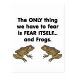 Ranas 3 del miedo sí mismo postal