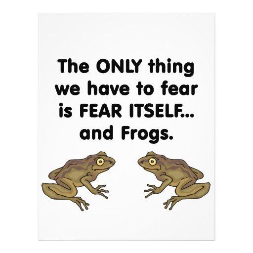 Ranas 3 del miedo sí mismo tarjetones