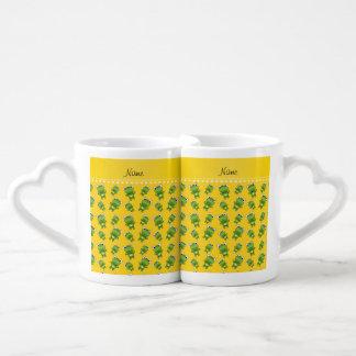 Ranas amarillas conocidas personalizadas taza para enamorados