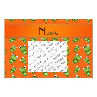 Ranas anaranjadas conocidas personalizadas fotografías