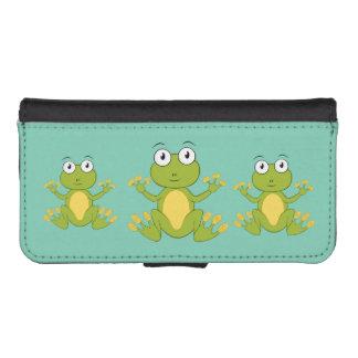ranas animadas lindas billetera para iPhone 5