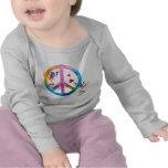 Ranas arbóreas 4 camisetas de los niños de la paz