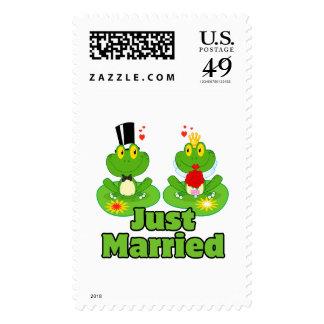 ranas casadas del froggy apenas de novia y del nov