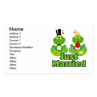 ranas casadas del froggy apenas de novia y del tarjetas de visita