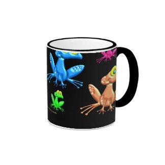Ranas de la diversión tazas de café