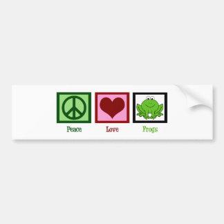 Ranas del amor de la paz pegatina para auto