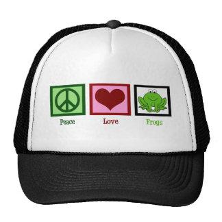Ranas del amor de la paz gorro