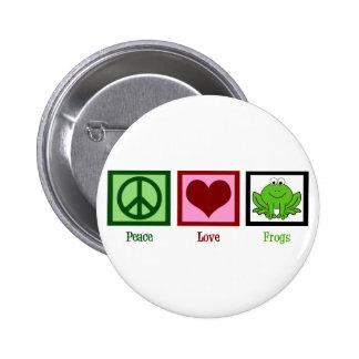 Ranas del amor de la paz pin redondo 5 cm