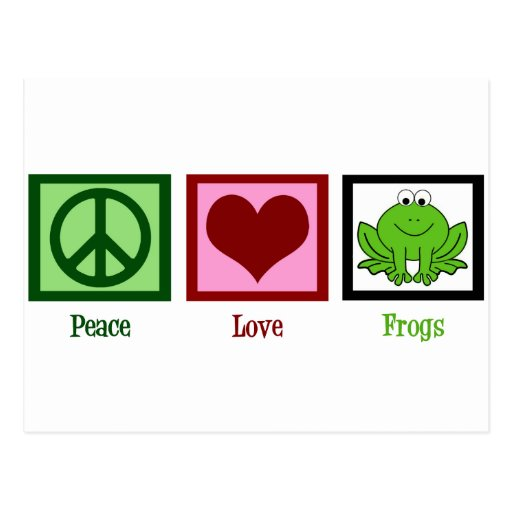 Ranas del amor de la paz tarjetas postales