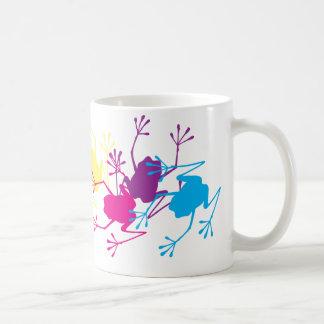 Ranas del arco iris taza de café