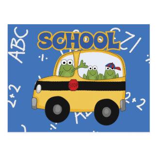Ranas del autobús escolar postales