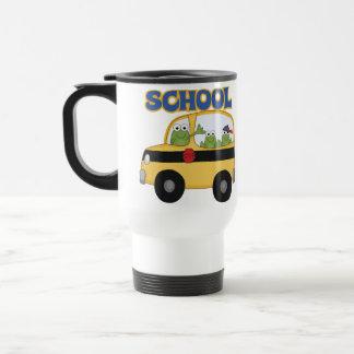 Ranas del autobús escolar tazas de café