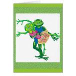 ranas del baile tarjeta de felicitación