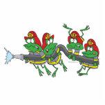 ranas divertidas del froggy del bombero esculturas fotograficas