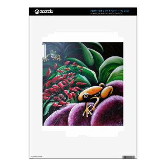 Ranas en las hojas del jardín iPad 3 pegatina skin