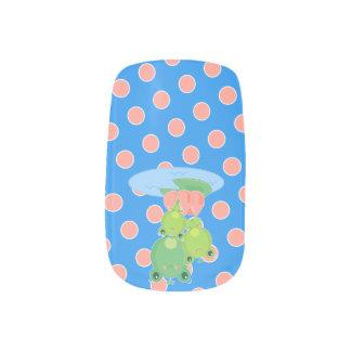 Ranas felices pegatinas para uñas