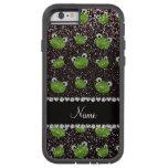 Ranas negras conocidas personalizadas del brillo funda de iPhone 6 tough xtreme