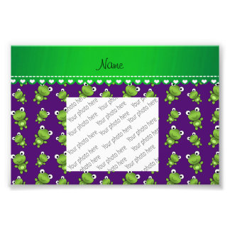 Ranas púrpuras conocidas personalizadas cojinete