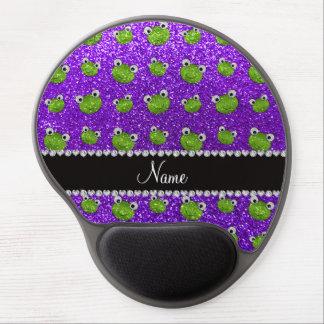 Ranas púrpuras personalizadas del brillo del añil alfombrillas de ratón con gel