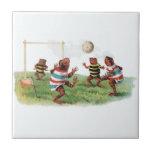 Ranas que juegan a fútbol tejas  cerámicas