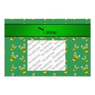 Ranas verdes conocidas personalizadas fotografías