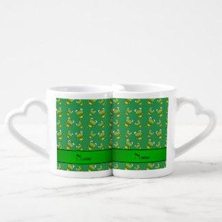 Ranas verdes conocidas personalizadas tazas para enamorados