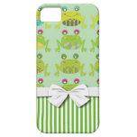 ranas y rayas felices enrrolladas lindas iPhone 5 Case-Mate protector