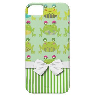 ranas y rayas felices enrrolladas lindas iPhone 5 funda