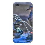 Ranas y una paloma iPhone 5 cárcasa