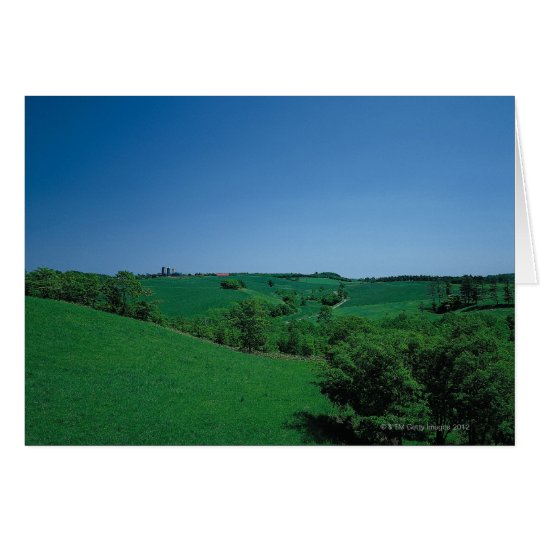 Ranch and Grassy Plain Card