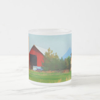 RANCH AT FOUR CORNERS FROSTED GLASS COFFEE MUG