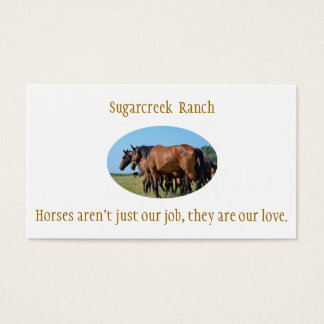 Ranch Bay Horse Business Cards