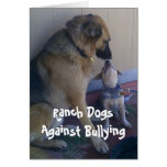 Ranch Dogs Against Bullying - Cowboy Parenting Greeting Card