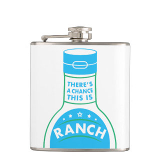Ranch Dressing Lovers Funny Flask
