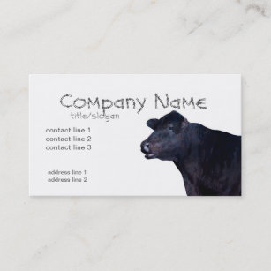 Black angus business cards zazzle ranch farm business cards black angus cow colourmoves