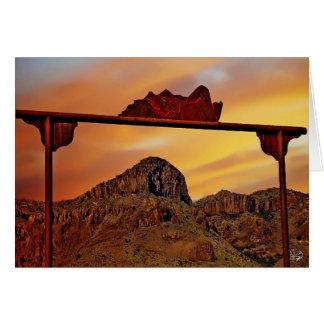 Ranch Gate Mountain Mimic, Alpine, TX Card
