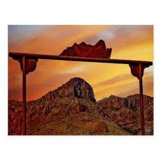 Ranch Gate Mountain Mimic, Alpine, TX Postcard