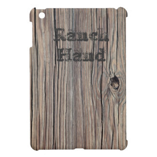 Ranch Hand Weathered Wood Background - Customized iPad Mini Covers