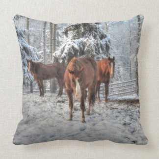 Ranch Horse Equine Photo Design for Animal-lovers Throw Pillow