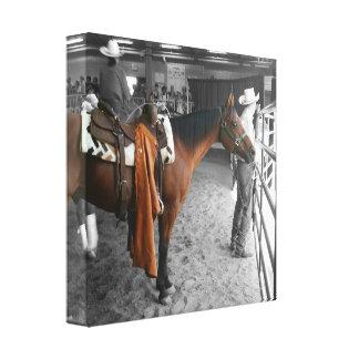 Ranch Horse Rest Canvas Print