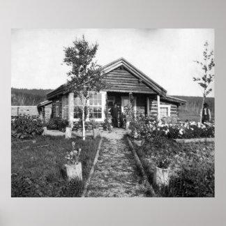 Ranch House Near Fairbanks: 1916 Poster