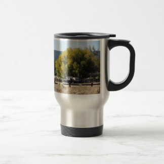 Ranch in Fall Travel Mug