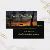 Ranch Real Estate Business Cards