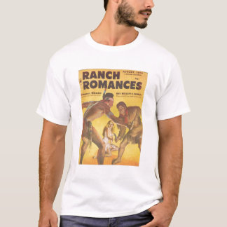 Ranch Romances T-Shirt Cowboy Indian 1959