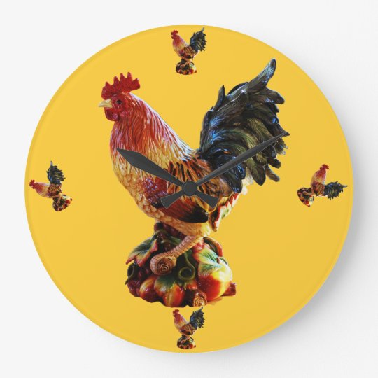 Ranch Rooster Wall Clock