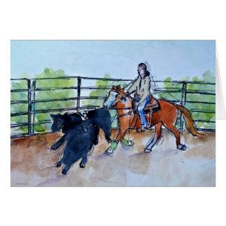 Ranch Sorting greeting card