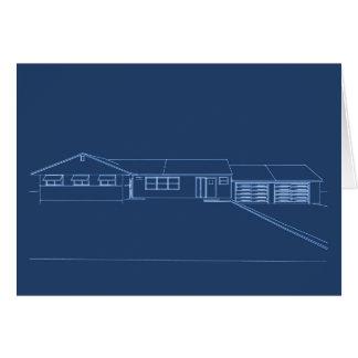 Ranch Style House: Blue Print: Card