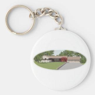 Ranch Style House: Basic Round Button Keychain