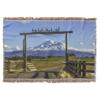 RANCH VIEW OF SHASTA THROW BLANKET